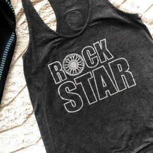 Tank With Screen-Printed Graphic Rockstar